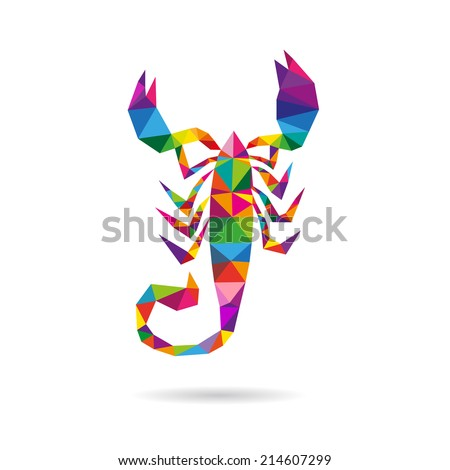scorpion abstract isolated on a