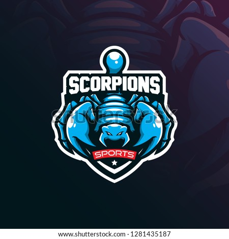 scorpion mascot logo design