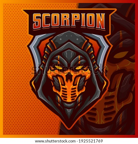 scorpion ninja mascot esport