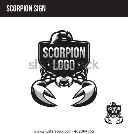 scorpion sign with place for