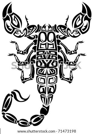 tribal scorpion tattoo design amazon com widgets scorpion tribal
