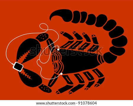 scorpion with portable  music