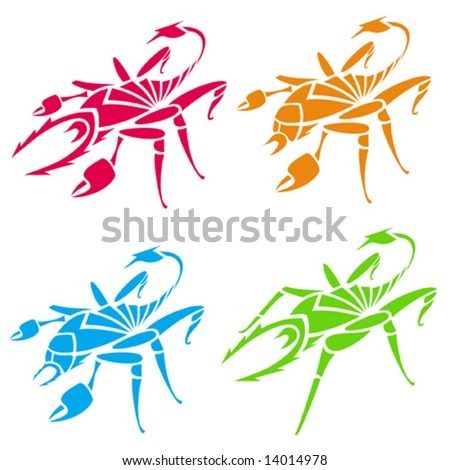 stock vector : Scorpions and spiders (tattoo). Vector illustration.
