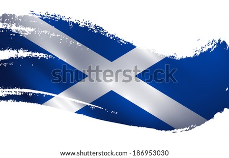 scotland flag paint splash