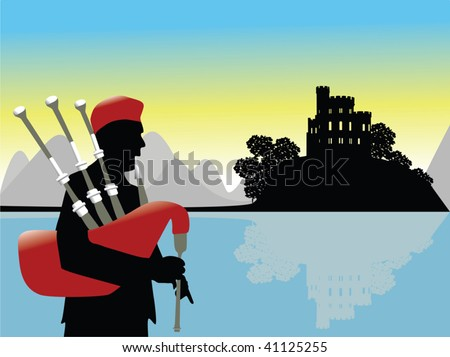 scotland scenery vector