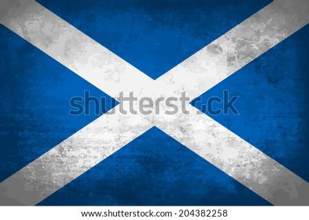 scotland  scottish flag on