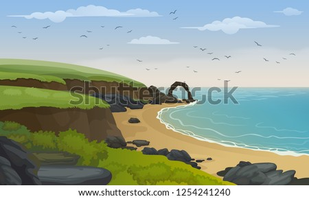 scotland sea coast landscape