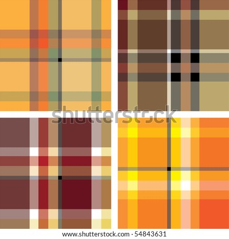 Scotland seamless texture set. Various variants of design. Vector illustration (EPS10). All parts (object) closed, possibility to edit.