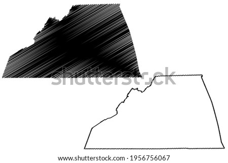 Scott County, Commonwealth of Virginia (U.S. county, United States of America) map vector illustration, scribble sketch Scott map ストックフォト ©