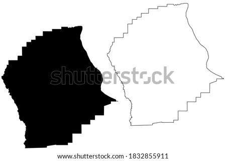 Scott County, Missouri (U.S. county, United States of America, USA, U.S., US) map vector illustration, scribble sketch Scott map ストックフォト ©