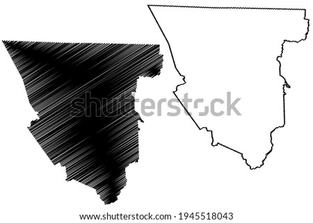 Scott County, State of Tennessee (U.S. county, United States of America) map vector illustration, scribble sketch Scott map ストックフォト ©