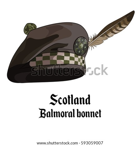 scottish bonnet with pompon