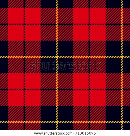 scottish plaid in red  black