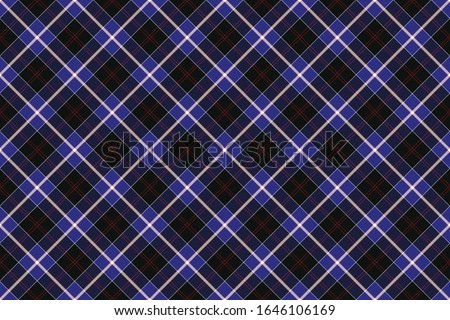 Scottish rectangle diagonal tartan for fabric, kilts, skirts, plaids and different designs.