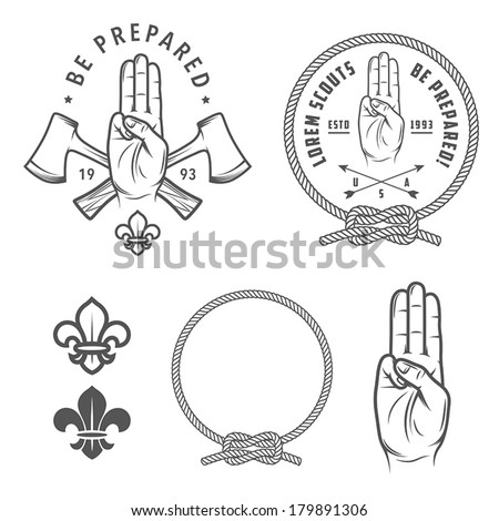 Scout symbols and design elements Stock photo ©