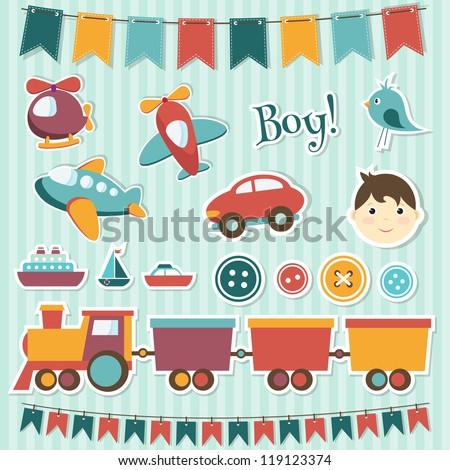 scrapbook baby boy set