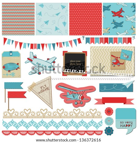scrapbook design elements baby
