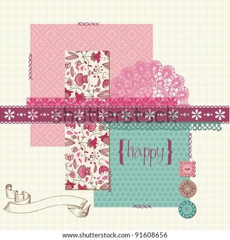 Scrapbook Design Elements - for invitation, congratulation, scapbooking