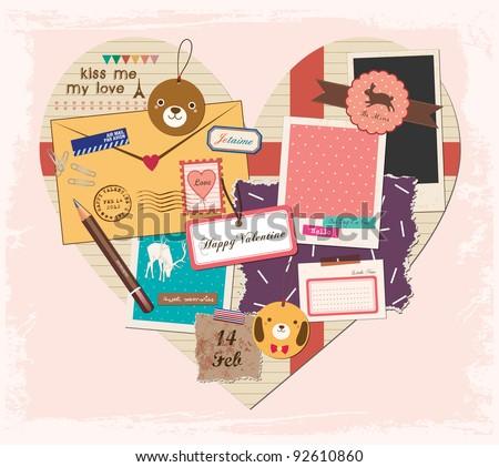 scrapbook elements in love