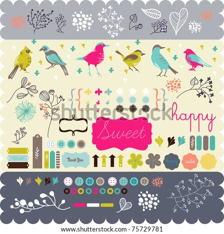 scrapbook elements that you need- fine quality - details and colorful