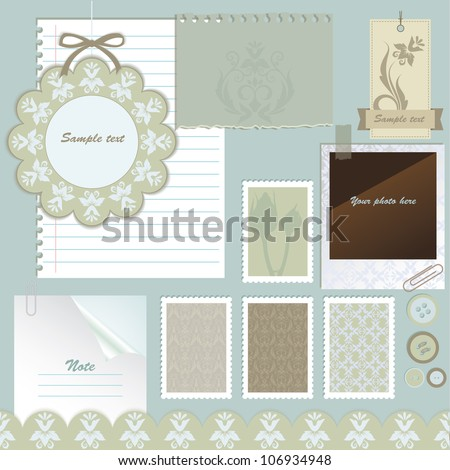 Scrapbook elements. Vector illustration. - stock vector
