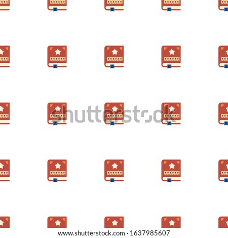 Scrapbooking icon pattern seamless isolated on white background. Editable flat Scrapbooking icon. Scrapbooking icon pattern for web and mobile.