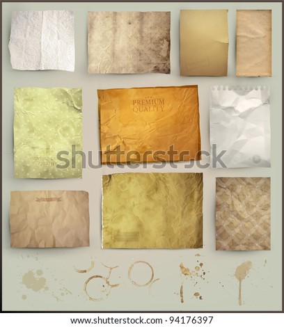 stock-vector-scrapbooking-set-old-paper-textures-different-aged-paper-elements-for-your-layouts