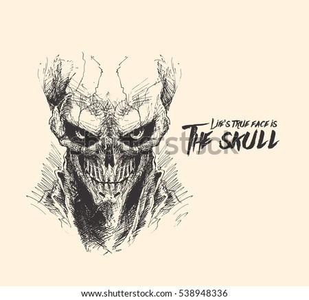 scratch devil skull   vampire