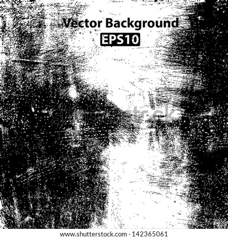 Scratched grunge brushed texture. EPS10 vector background.