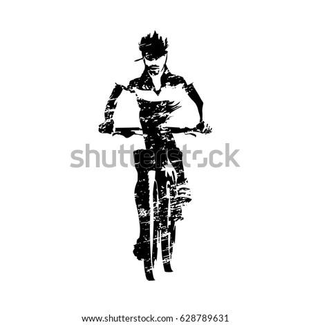 scratched mountain biker