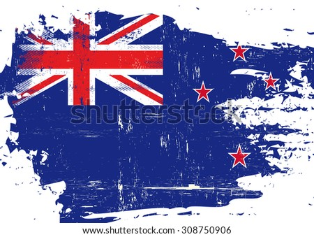 scratched new zealand flag a