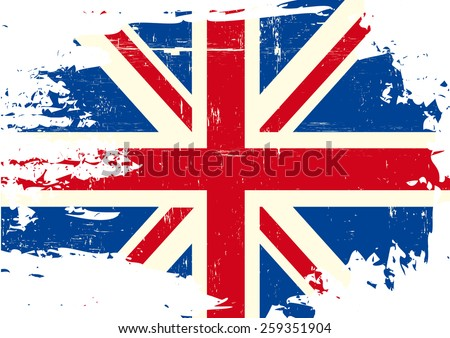 scratched uk flag an english