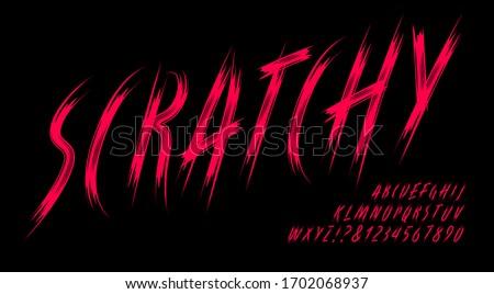 scratchy alphabet  a dark and