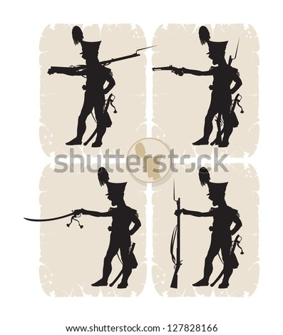 screaming soldier silhouettes