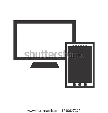Screen Glyph black icon