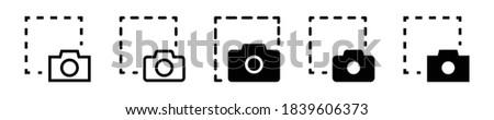 screen shoot, camera capture, screen capture icon set. screen snip, snipping tool, camera shutter, screenshot icon - stock vector