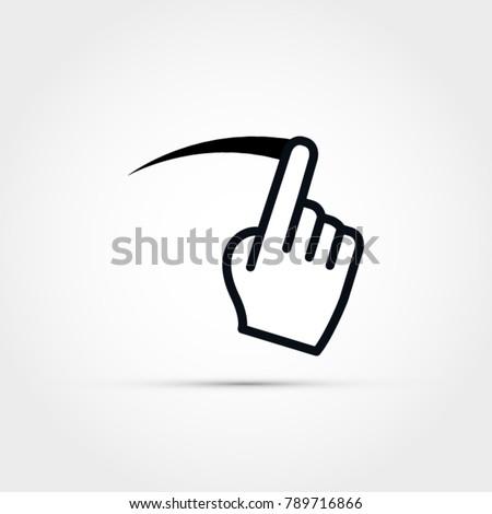 Screen swipe vector illustration Foto stock ©