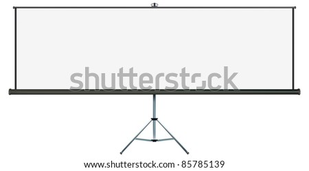 Screen with plenty of copy-space, place your own text or images on the wide projection screen