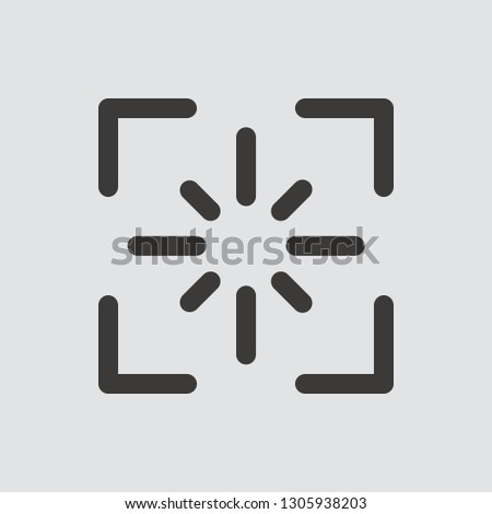 screenshot icon isolated of
