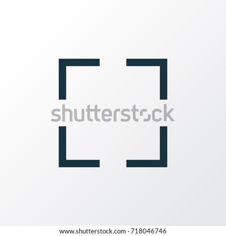 screenshot outline symbol