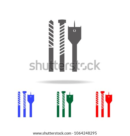 Screw driver bit set icon.. Elements of construction tools multi colored icons. Premium quality graphic design icon. Simple icon for websites, web design, mobile app, info graphics on white background