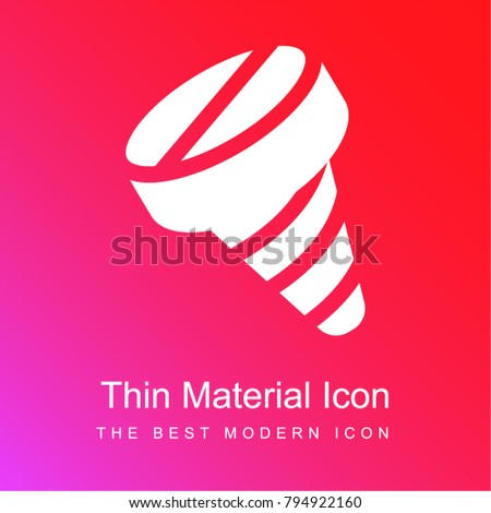 Screw red and pink gradient material white icon minimal design