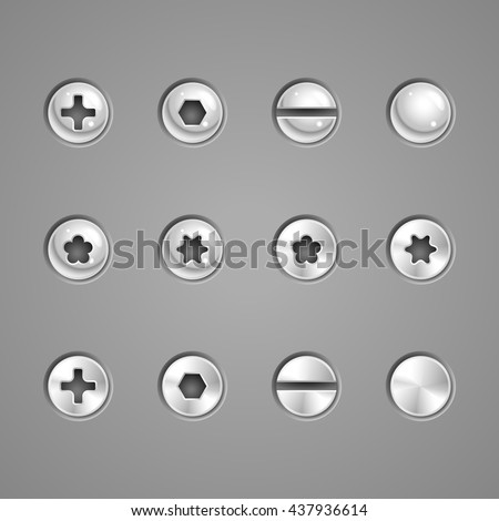 Screws and rivets