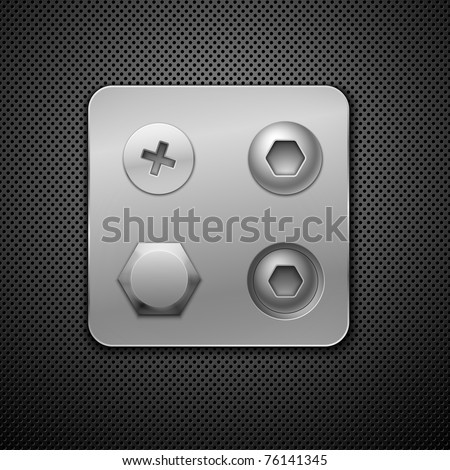 Screws and rivets. Elements for your design.  Realistic vector illustration. - stock vector