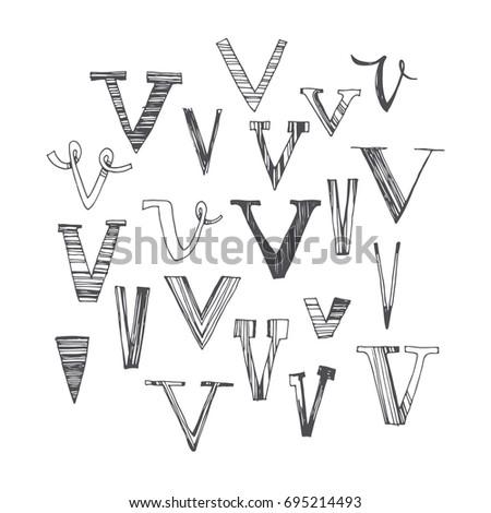 scribble alphabet doodle abc