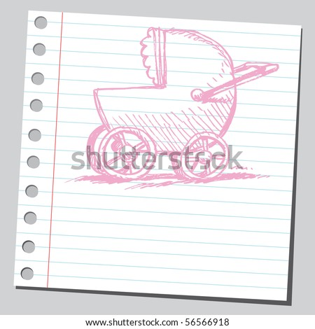 Scribble baby carriage