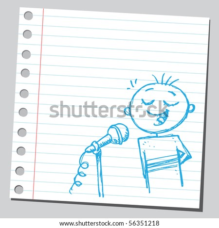 Scribble boy singing