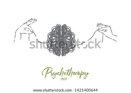 scribble brain  hands
