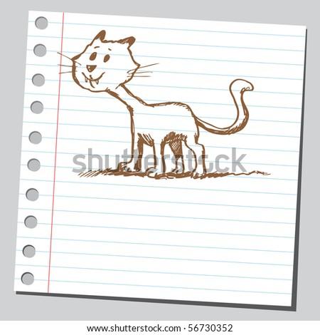 Scribble cat