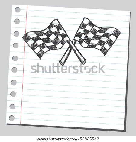 Scribble checkered flags